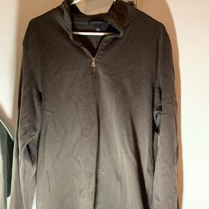 brown banana republic half zip sweatshirt
